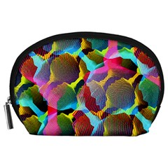 3d Pattern Mix Accessory Pouches (large)  by Onesevenart