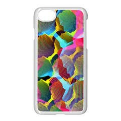 3d Pattern Mix Apple Iphone 7 Seamless Case (white) by Onesevenart