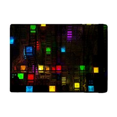Abstract 3d Cg Digital Art Colors Cubes Square Shapes Pattern Dark Ipad Mini 2 Flip Cases by Onesevenart