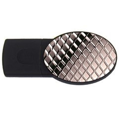 3d Abstract Pattern Usb Flash Drive Oval (4 Gb) by Onesevenart