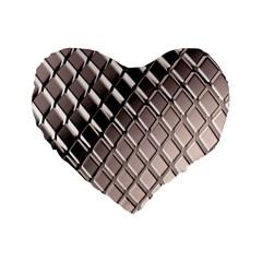 3d Abstract Pattern Standard 16  Premium Flano Heart Shape Cushions by Onesevenart