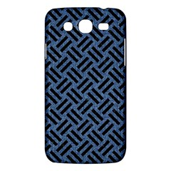 Woven2 Black Marble & Blue Denim (r) Samsung Galaxy Mega 5 8 I9152 Hardshell Case  by trendistuff