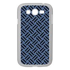 WOV2 BK-MRBL BL-LTHR (R) Samsung Galaxy Grand DUOS I9082 Case (White)