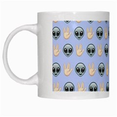 Alien Pattern White Mugs by Onesevenart