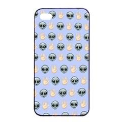 Alien Pattern Apple Iphone 4/4s Seamless Case (black) by Onesevenart