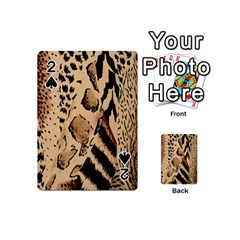 Animal Fabric Patterns Playing Cards 54 (mini)  by Onesevenart