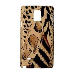 Animal Fabric Patterns Samsung Galaxy Note 4 Hardshell Case by Onesevenart