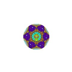 Alien Mandala 1  Mini Buttons by Onesevenart