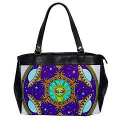 Alien Mandala Office Handbags by Onesevenart