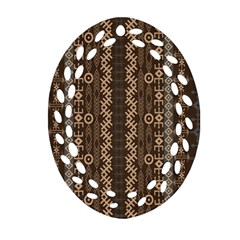African Style Vector Pattern Oval Filigree Ornament (two Sides) by Onesevenart