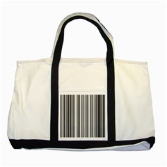 Barcode Pattern Two Tone Tote Bag by Onesevenart