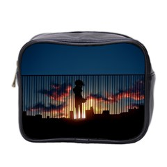 Art Sunset Anime Afternoon Mini Toiletries Bag 2 Side by Onesevenart