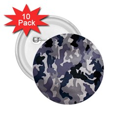 Army Camo Pattern 2 25  Buttons (10 Pack)  by Onesevenart