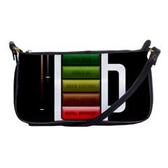 Black Energy Battery Life Shoulder Clutch Bags by Onesevenart