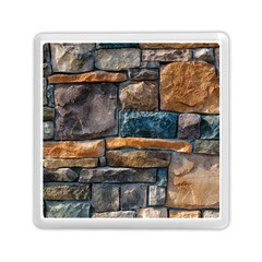 Brick Wall Pattern Memory Card Reader (square)  by Onesevenart