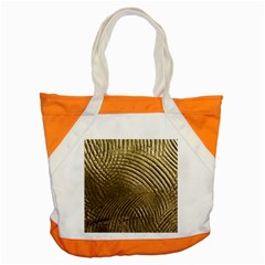 Brushed Gold Accent Tote Bag by Onesevenart