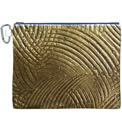 Brushed Gold Canvas Cosmetic Bag (xxxl) by Onesevenart