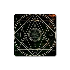 Cult Of Occult Death Detal Hardcore Heavy Square Magnet by Onesevenart