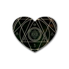 Cult Of Occult Death Detal Hardcore Heavy Heart Coaster (4 Pack)  by Onesevenart