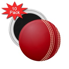 Cricket Ball 2 25  Magnets (10 Pack)  by Onesevenart