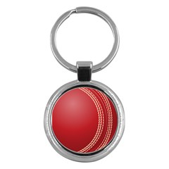 Cricket Ball Key Chains (round)  by Onesevenart