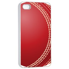 Cricket Ball Apple Iphone 4/4s Seamless Case (white) by Onesevenart