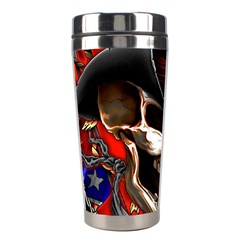 Confederate Flag Usa America United States Csa Civil War Rebel Dixie Military Poster Skull Stainless Steel Travel Tumblers by Onesevenart