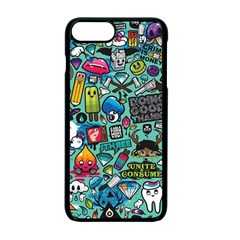 Comics Collage Apple iPhone 7 Plus Seamless Case (Black) by Onesevenart