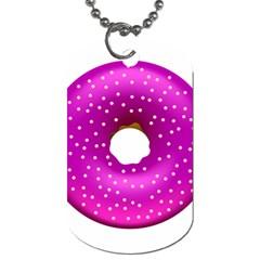 Donut Transparent Clip Art Dog Tag (two Sides) by Onesevenart