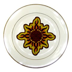 Disturbed Is An American Heavy Metal Band Logo Porcelain Plates by Onesevenart