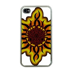 Disturbed Is An American Heavy Metal Band Logo Apple Iphone 4 Case (clear) by Onesevenart