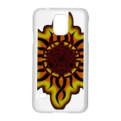 Disturbed Is An American Heavy Metal Band Logo Samsung Galaxy S5 Case (white) by Onesevenart
