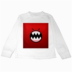 Funny Angry Kids Long Sleeve T-Shirts by Onesevenart