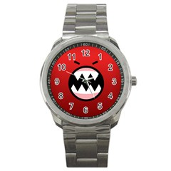 Funny Angry Sport Metal Watch by Onesevenart