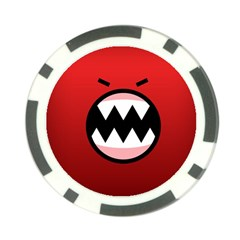 Funny Angry Poker Chip Card Guard by Onesevenart