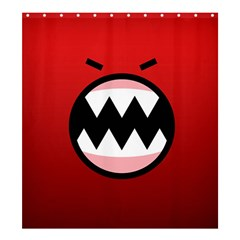 Funny Angry Shower Curtain 66  X 72  (large)  by Onesevenart