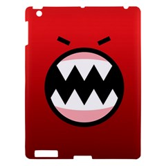Funny Angry Apple iPad 3/4 Hardshell Case by Onesevenart