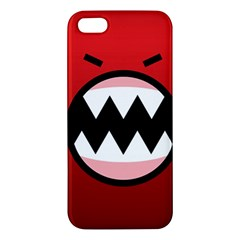 Funny Angry Apple Iphone 5 Premium Hardshell Case by Onesevenart