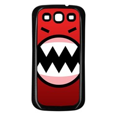 Funny Angry Samsung Galaxy S3 Back Case (black) by Onesevenart