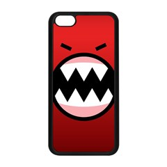 Funny Angry Apple Iphone 5c Seamless Case (black) by Onesevenart