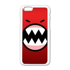 Funny Angry Apple Iphone 6/6s White Enamel Case by Onesevenart
