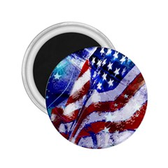 Flag Usa United States Of America Images Independence Day 2 25  Magnets by Onesevenart