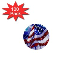 Flag Usa United States Of America Images Independence Day 1  Mini Buttons (100 Pack)  by Onesevenart