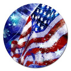 Flag Usa United States Of America Images Independence Day Magnet 5  (round)