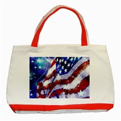 Flag Usa United States Of America Images Independence Day Classic Tote Bag (red) by Onesevenart