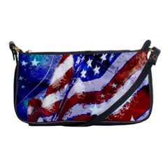 Flag Usa United States Of America Images Independence Day Shoulder Clutch Bags by Onesevenart
