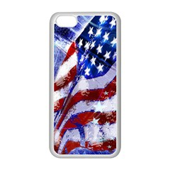 Flag Usa United States Of America Images Independence Day Apple Iphone 5c Seamless Case (white) by Onesevenart