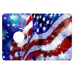 Flag Usa United States Of America Images Independence Day Kindle Fire Hdx Flip 360 Case by Onesevenart