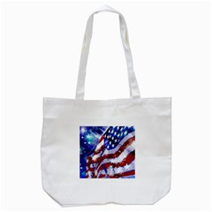 Flag Usa United States Of America Images Independence Day Tote Bag (white) by Onesevenart