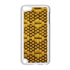 Golden Pattern Fabric Apple iPod Touch 5 Case (White) by Onesevenart